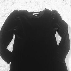 Lands' End Dresses - Lands End recital/Holiday girls black velvet dress